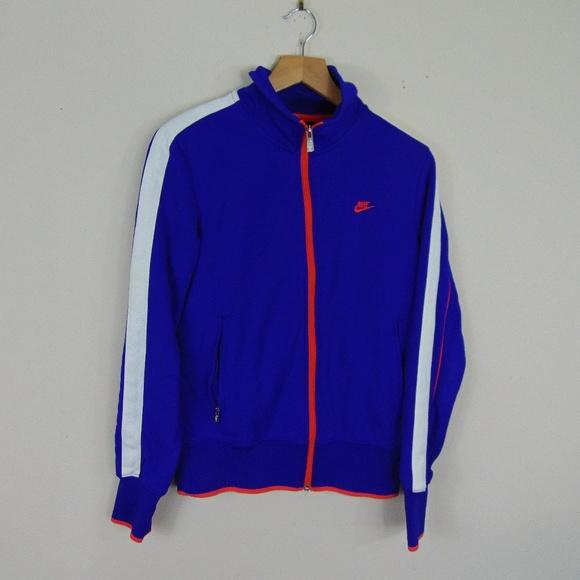 9818de142 Nike Tops   Sportswear Women M Full Zip Track Jacket Blue   Poshmark